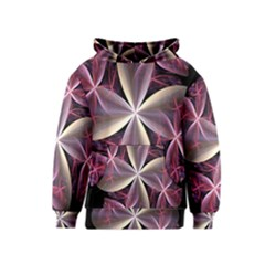 Pink And Cream Fractal Image Of Flower With Kisses Kids  Pullover Hoodie