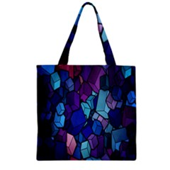 Cubes Vector Art Background Zipper Grocery Tote Bag by Simbadda