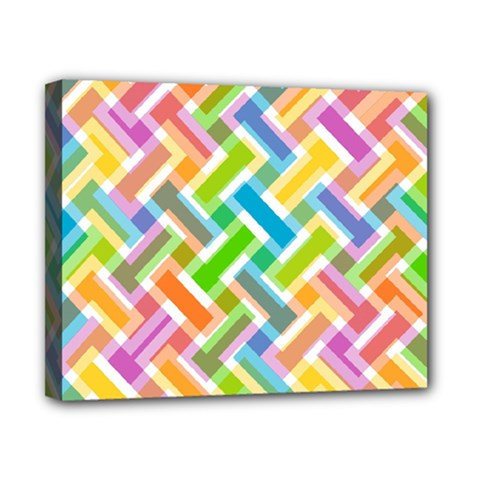 Abstract Pattern Colorful Wallpaper Background Canvas 10  X 8  by Simbadda
