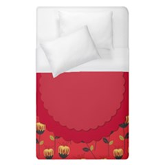 Floral Roses Pattern Background Seamless Duvet Cover (Single Size)