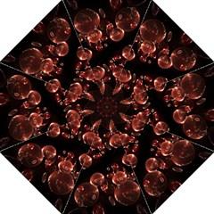 Fractal Chocolate Balls On Black Background Straight Umbrellas by Simbadda