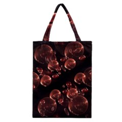 Fractal Chocolate Balls On Black Background Classic Tote Bag by Simbadda