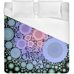An Abstract Background Consisting Of Pastel Colored Circle Duvet Cover (king Size)