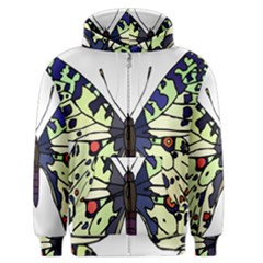 A Colorful Butterfly Image Men s Zipper Hoodie