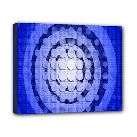 Abstract Background Blue Created With Layers Canvas 10  X 8  by Simbadda