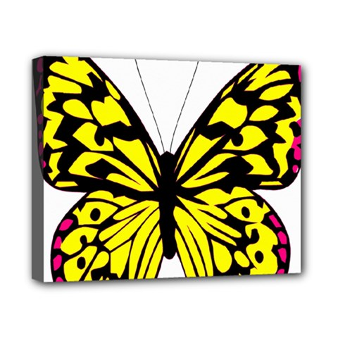 Yellow A Colorful Butterfly Image Canvas 10  X 8  by Simbadda