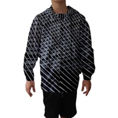 Abstract Architecture Pattern Hooded Wind Breaker (kids)