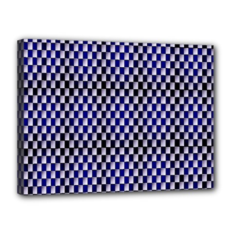 Squares Blue Background Canvas 16  X 12  by Simbadda