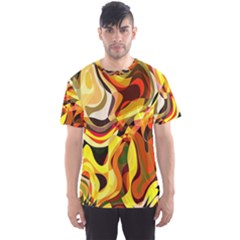 Colourful Abstract Background Design Men s Sport Mesh Tee by Simbadda