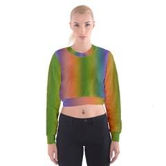 Colorful Stipple Effect Wallpaper Background Women s Cropped Sweatshirt