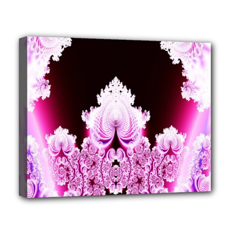 Fractal In Pink Lovely Deluxe Canvas 20  X 16   by Simbadda