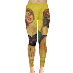 Pin Up Girl  Leggings  by Valentinaart