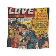 Love Stories Square Tapestry (small) by Valentinaart