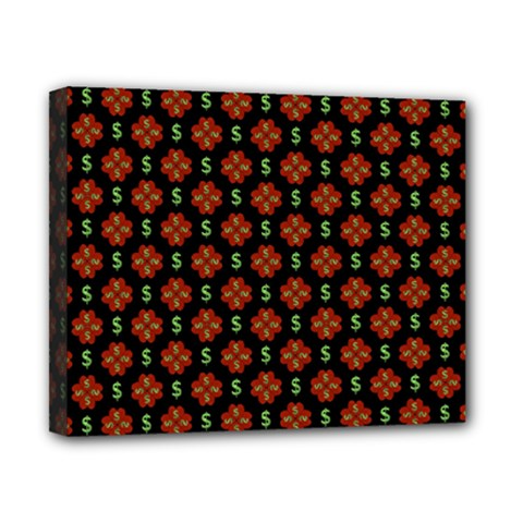 Dollar Sign Graphic Pattern Canvas 10  X 8  by dflcprints