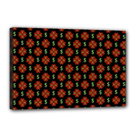 Dollar Sign Graphic Pattern Canvas 18  X 12  by dflcprints