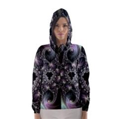 Magic Swirl Hooded Wind Breaker (women) by Simbadda