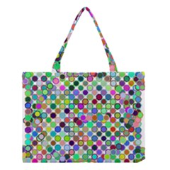 Colorful Dots Balls On White Background Medium Tote Bag by Simbadda