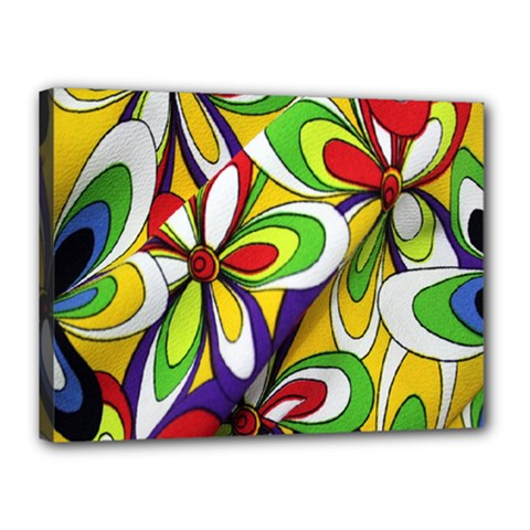 Colorful Textile Background Canvas 16  X 12  by Simbadda
