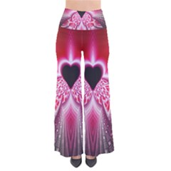 Illuminated Red Hear Red Heart Background With Light Effects Pants by Simbadda