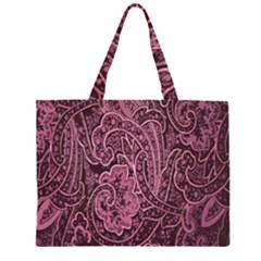 Abstract Purple Background Natural Motive Zipper Large Tote Bag by Simbadda