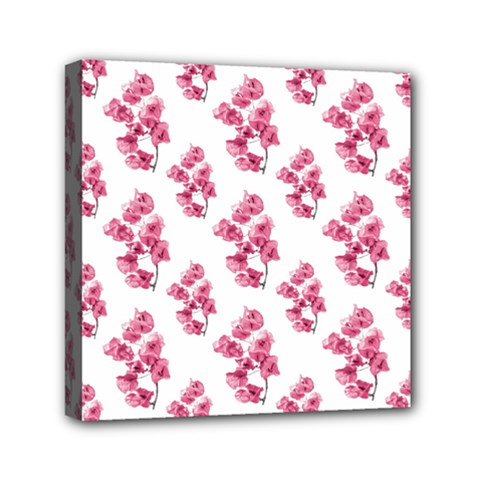 Santa Rita Flowers Pattern Mini Canvas 6  X 6  by dflcprints