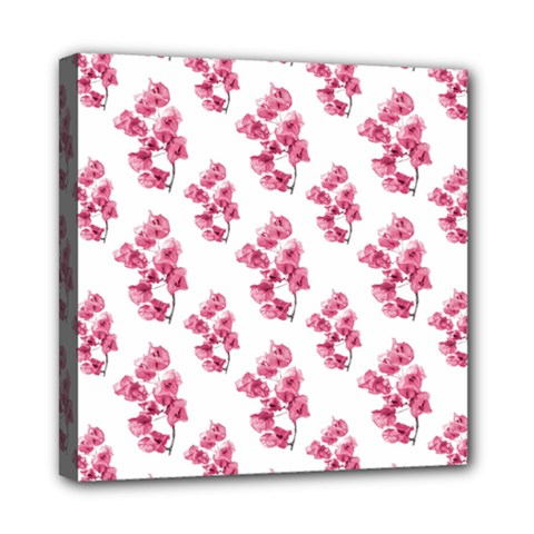 Santa Rita Flowers Pattern Mini Canvas 8  X 8  by dflcprints