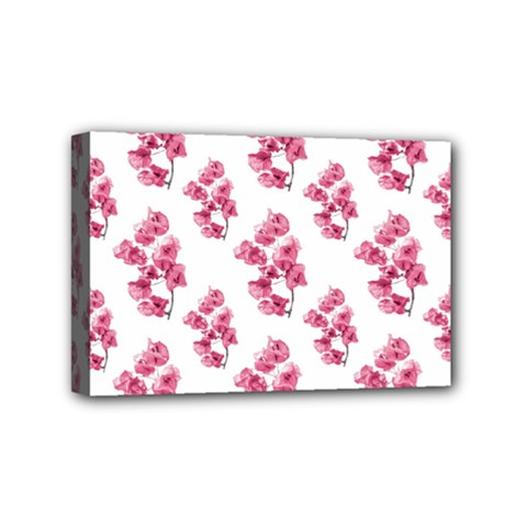 Santa Rita Flowers Pattern Mini Canvas 6  X 4  by dflcprints