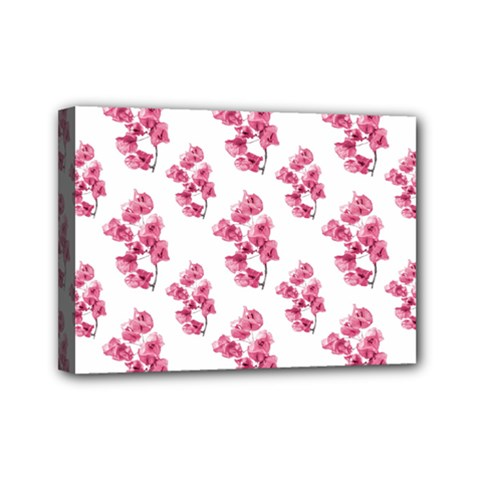 Santa Rita Flowers Pattern Mini Canvas 7  X 5  by dflcprints