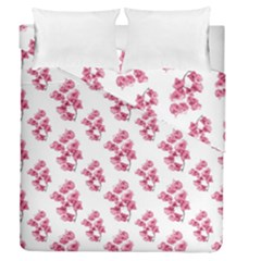 Santa Rita Flowers Pattern Duvet Cover Double Side (queen Size) by dflcprints