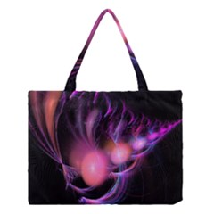 Fractal Image Of Pink Balls Whooshing Into The Distance Medium Tote Bag by Simbadda