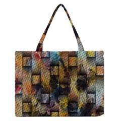 Fabric Weave Medium Zipper Tote Bag by Simbadda