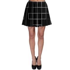 Abstract Clutter Skater Skirt