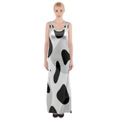Abstract Venture Maxi Thigh Split Dress by Simbadda