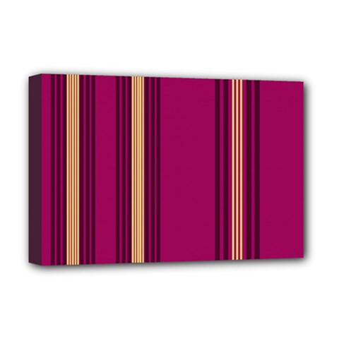 Stripes Background Wallpaper In Purple Maroon And Gold Deluxe Canvas 18  X 12   by Simbadda
