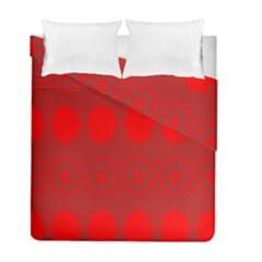 Red Flowers Velvet Flower Pattern Duvet Cover Double Side (full/ Double Size) by Simbadda