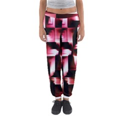Red And Pink Abstract Background Women s Jogger Sweatpants by Simbadda