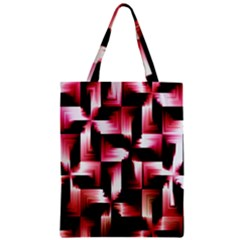 Red And Pink Abstract Background Zipper Classic Tote Bag by Simbadda