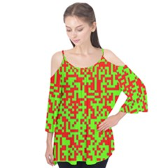 Colorful Qr Code Digital Computer Graphic Flutter Tees by Simbadda