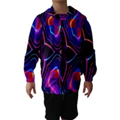 Rainbow Abstract Background Pattern Hooded Wind Breaker (Kids) by Simbadda