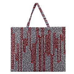 Abstract Geometry Machinery Wire Zipper Large Tote Bag by Simbadda