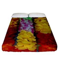 Colorful Hawaiian Lei Flowers Fitted Sheet (king Size)