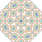 Geometric Circles Seamless Rainbow Colors Geometric Circles Seamless Pattern On White Background Hook Handle Umbrellas (Small)