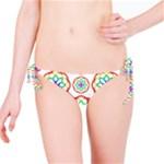 Geometric Circles Seamless Rainbow Colors Geometric Circles Seamless Pattern On White Background Bikini Bottom