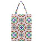 Geometric Circles Seamless Rainbow Colors Geometric Circles Seamless Pattern On White Background Classic Tote Bag