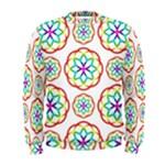 Geometric Circles Seamless Rainbow Colors Geometric Circles Seamless Pattern On White Background Men s Sweatshirt