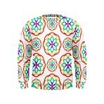 Geometric Circles Seamless Rainbow Colors Geometric Circles Seamless Pattern On White Background Kids  Sweatshirt
