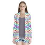 Geometric Circles Seamless Rainbow Colors Geometric Circles Seamless Pattern On White Background Cardigans