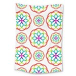 Geometric Circles Seamless Rainbow Colors Geometric Circles Seamless Pattern On White Background Large Tapestry