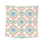 Geometric Circles Seamless Rainbow Colors Geometric Circles Seamless Pattern On White Background Square Tapestry (Small)
