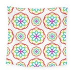 Geometric Circles Seamless Rainbow Colors Geometric Circles Seamless Pattern On White Background Square Tapestry (Large)